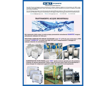 THE APPLICATION OF THE MONTH! ALMATEC PUMPS FOR THE TREATMENT OF INDUSTRIAL WATERS